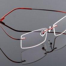 889a5f78e5378 Ultra-light Men s titanium rimless Reading Glasses women alloy Rimless  reading eyeglasses Presbyopic glasses +