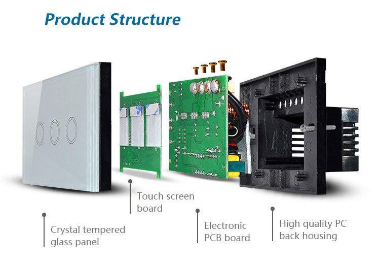 us au standard wireless wifi remote wall switch smart home touch