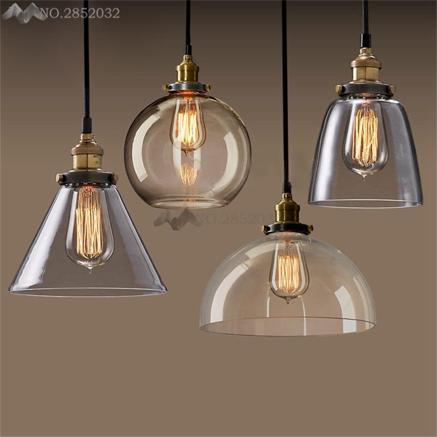 Amiable Jw Glass Pendant Lights Loft Vintage Industrial Pendant Lamps Restaurant Dining Room Lustres De Teto Led Colgante Glass Abajur Pendant Lights