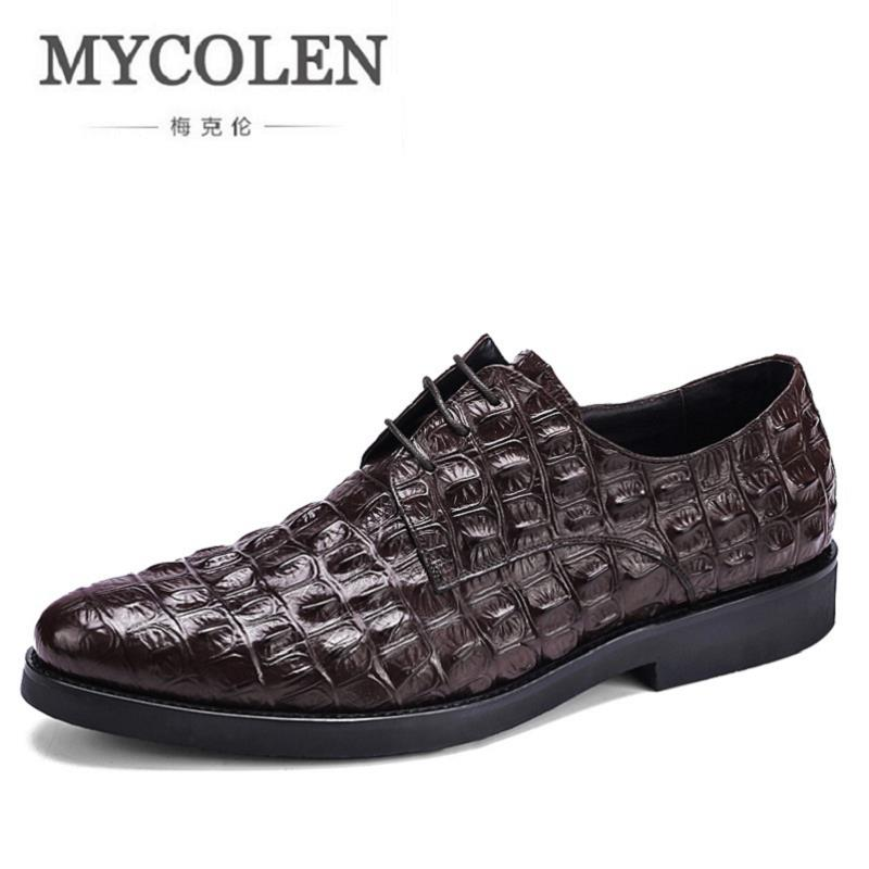 MYCOLEN New Arrived Brand Men Shoes Black Oxfords Shoes Crocodile Men Flat Business Formal Shoes Lace-up Mens Dress shoesMYCOLEN New Arrived Brand Men Shoes Black Oxfords Shoes Crocodile Men Flat Business Formal Shoes Lace-up Mens Dress shoes