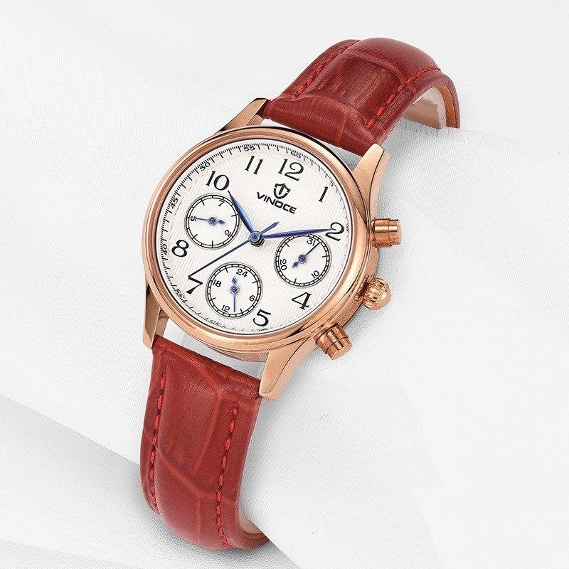 Hot VINOCE montres femmes montres de luxe marque dames montre à Quartz femme horloge mode Sport montre-bracelet pour femmes Relogio Feminino
