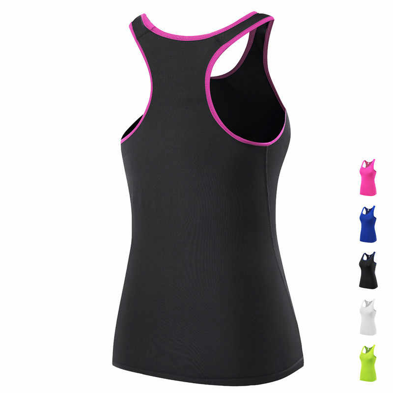 Women Professional Gym Shirts Sleeveless Yoga Tops Dry Fit Shirts Tights Sports Tees Vest for Running Fitness Training Jogging