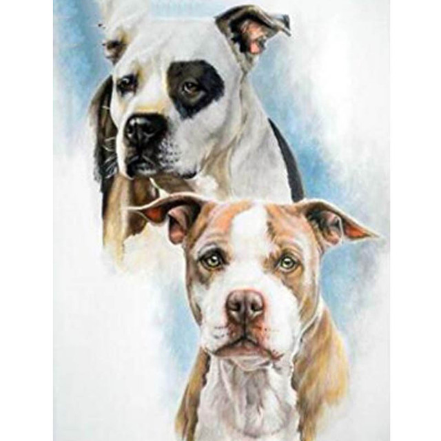 US $5 84 7% OFF|5d Diamond Painting Full Drill Square Black and White Pit  Bull Dog Diamond Embroidery Animal Pitbull Dogs Rhinestone Mosaic Gift-in