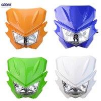 GOOFIT 4color Headlights Motorcycle Supermoto Universal StreetFighter KX125 KX250 KXF250 KXF450 KLX200 KLX250 KLX450 E033 803