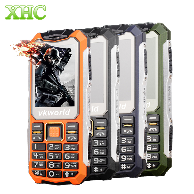vkworld Stone V3S Cheapest Small Elder Phone Quadruple Protection Long standby Big BOX Speaker Dual LED Lights Russian Keyboard