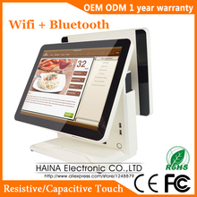 15 Pollici Touch Screen Capacitivo Lcd Monitor Ristorante Pos Sistema a Doppio Schermo Pos Macchina