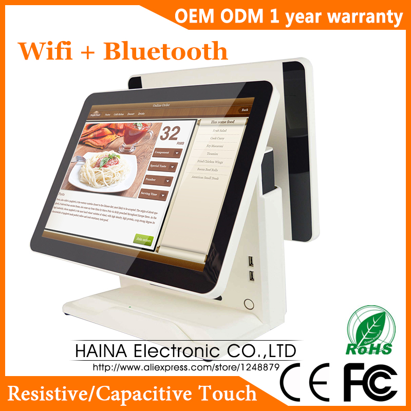 Image 2 - Haina Touch 15 inch Touch Screen All in one POS System Supermarket, POS System Dual Screen-in LCD Monitors from Computer & Office