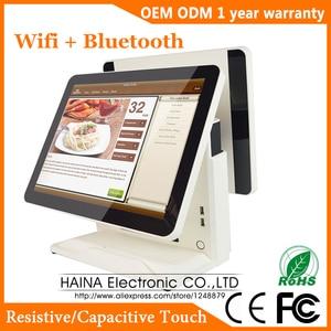 Image 1 - Haina Touch 15 pulgadas pantalla táctil estación de Gas POS Sistema de pantalla Dual Wifi POS máquina