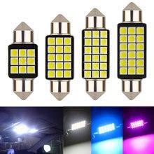 1 Uds., luz festón para coche C5W 31/36/39/41MM 3030 SMD Canbus, luz de lectura interior libre de errores, bombillas de domo, lámpara de placa automática blanca de 12V
