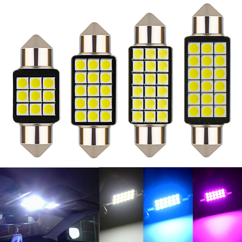1PCS Car Festoon Light C5W 31/36/39/41MM 3030 SMD Canbus Error Free Interior Reading Light Dome Bulbs Auto Plate Lamp white 12V-in Signal Lamp from Automobiles & Motorcycles