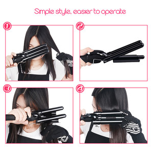 Image 3 - 3 ขนาด LCD เซรามิค Barrels ลึก WAVE Crimper Curler ผม Waver ไฟฟ้า Curling Iron Salon Anion Curls Hair Styler tool42