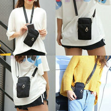 Women Girl Coin Purse Card Holder Mini Cross-Body Cell Phone Shoulder Strap Wallet Clutch