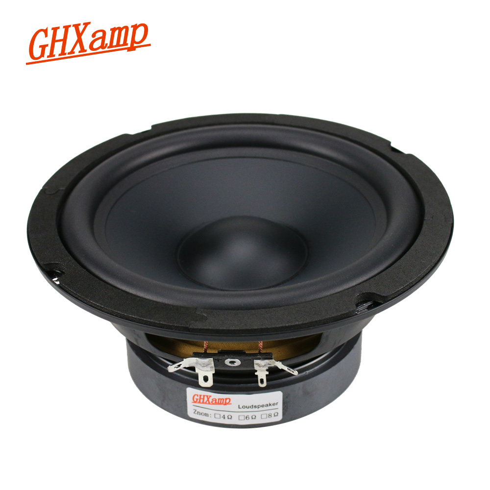 GHXAMP 6.5 inch Mid Bass Speaker Unit Deep Bass 8ohm 130W HIfi Home Theater Mediant Woofer Loudspeaker Rubber edge 1pc ghxamp 8ohm 30w for lg 3inch mid range car speaker high grade braided pots home theater mid loudspeaker human voice 1 pairs