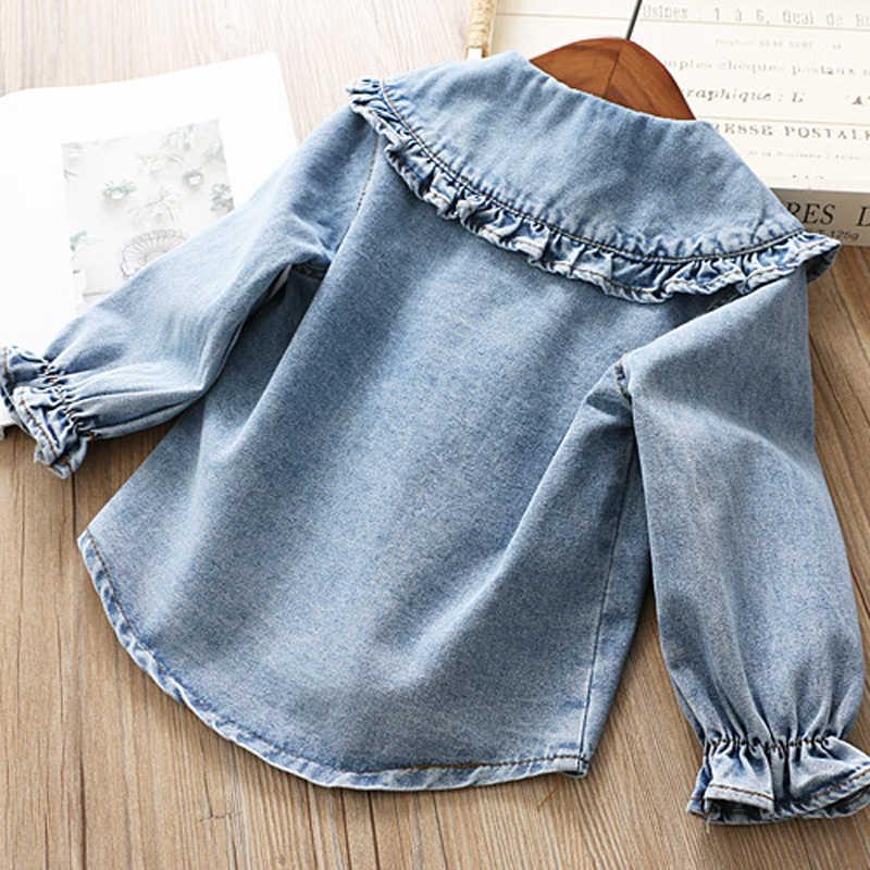 IYEAL/комплекты одежды для девочек коллекция 2019 года, новая весенняя детская одежда джинсовые рубашки с длинными рукавами + юбка-пачка комплект из 2 предметов для детей ясельного возраста