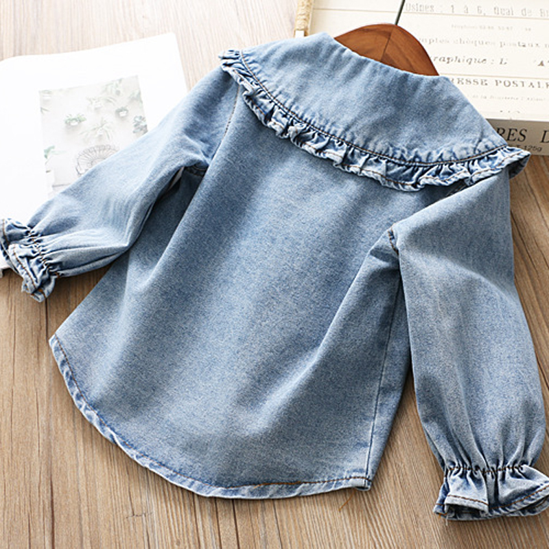 Image 4 - IYEAL Girls Clothing Sets 2019 New Spring Kids Clothes Long Sleeve Denim Shirts+Tutu Cake Skirt 2Pcs Children Toddler Outfit-in Clothing Sets from Mother & Kids