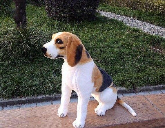 middle lovely simulaiton beagle dog toy plush sitting beagle dog doll gift about 40cm big plush yellow akita dog toy lovely fat sitting akita dog doll gift about 45cm