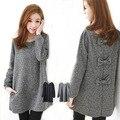 Nova outono/primavera blusas de Maternidade casaco e outerwear camisola de malha roupas grávida frete grátis