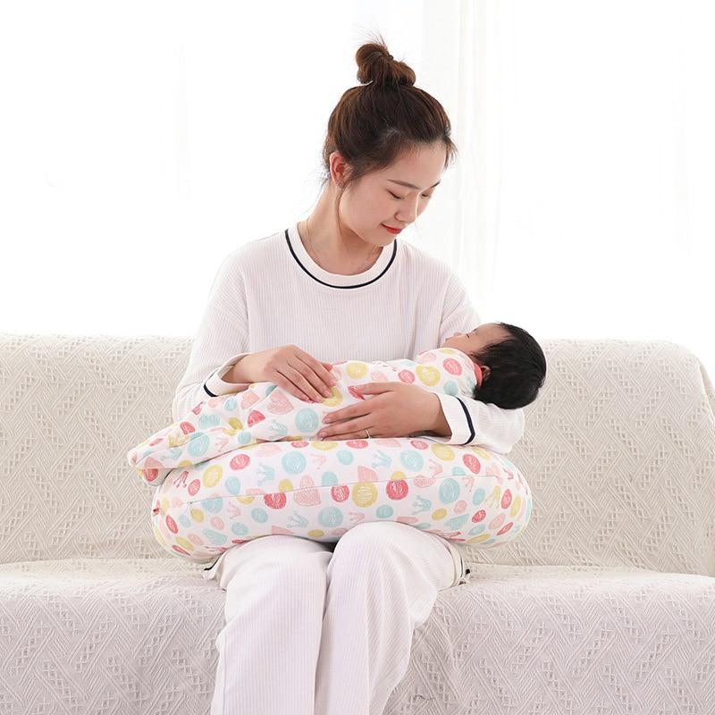 Multifunktionssygeplejerskepude Spædbørsteforbøjningspude Babykæbe-U-sygeplejerskebeskyttelse Mummie Taljestøttepude