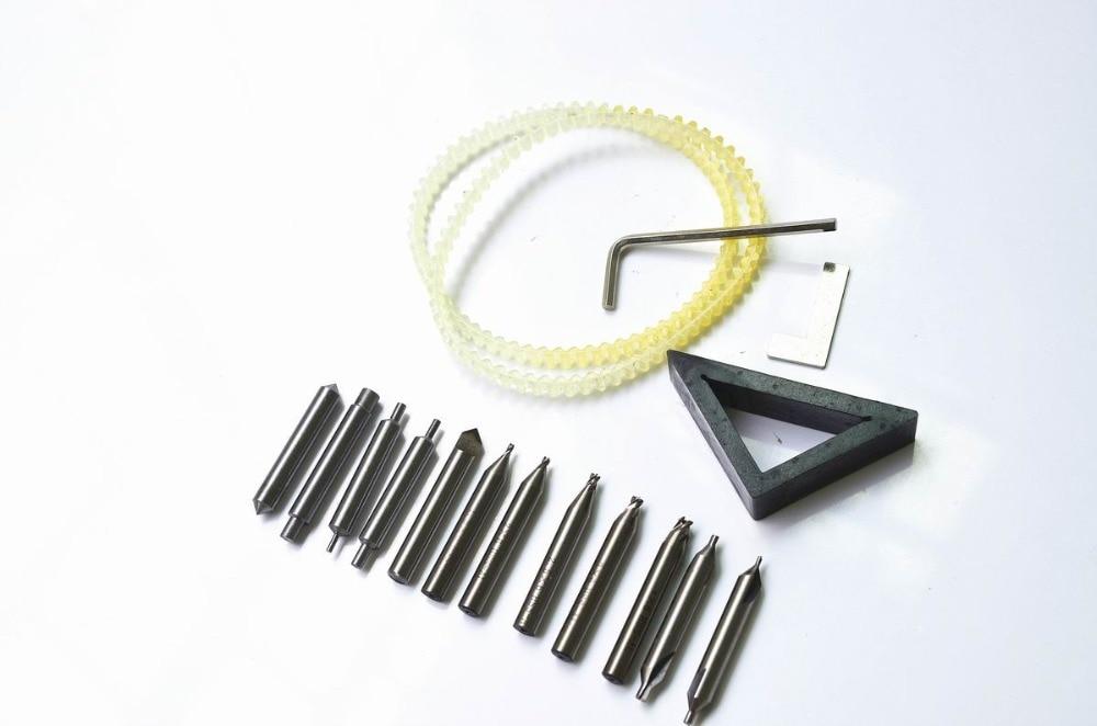 縦型キー切断機用のスペアパーツ付き全セットフライスカッターカッター鍵屋ツールカッタービット鋼ドリル