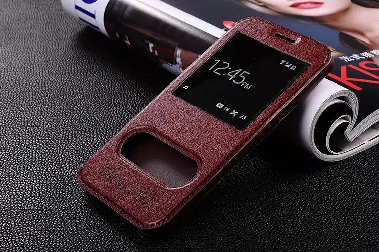 low priced affac 6e521 US $3.98  For Galaxy E7 E7000 E700F Double window Original flip Cover Case  for Samsung Galaxy E7 case With Stand Function on Aliexpress.com   Alibaba  ...