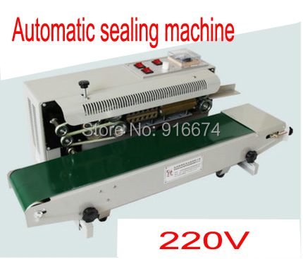 Free shipping 220V Continuous Plastic Bag Film Heat Band Sealing Machine FR-900 Steel Wheel Printing ,Sealing Width:6-12MM