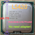 lntel Xeon L5420 2.5GHz/12M/1333Mhz/CPU equal to LGA775 Core 2 Quad Q9300 CPU,works on LGA775 mainboard no need adapter
