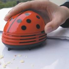 1 Pcs Mini Ladybug Desktop Coffee Table Vacuum Cleaner Dust Collector  Computer Desktop Keyboard Cleaning Brush