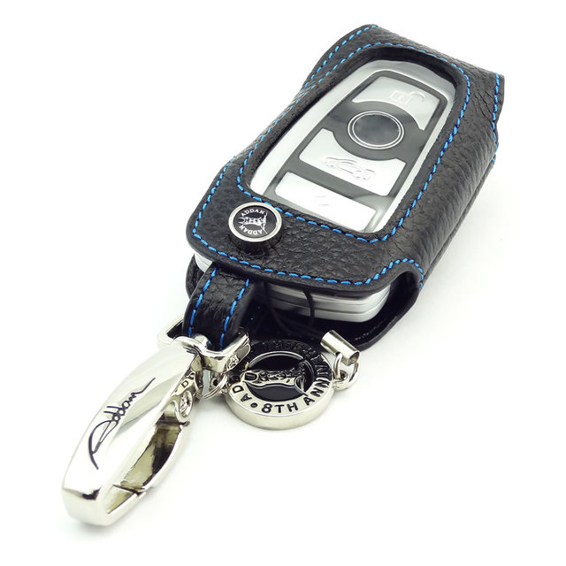 new arrival ADDAN Genuine Leather Car Key Fob Cover Key case wallet for BMW X3 2 3 3GT 4 5 5GT 6 7 Series auto accessories