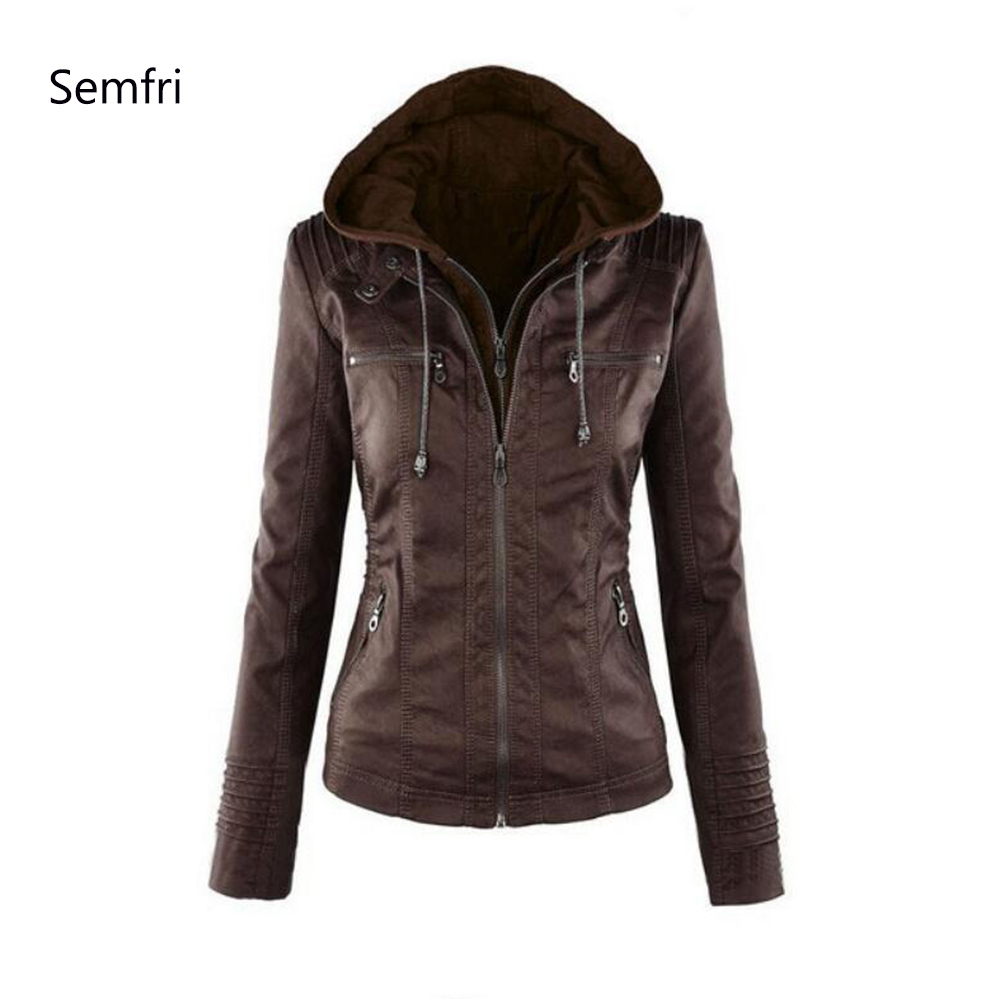 Semfri Winter Faux Leather   Jacket   Women Casual   Basic   Coats Plus Size 7XL Ladies   Basic     Jackets   Waterproof Windproof Coats
