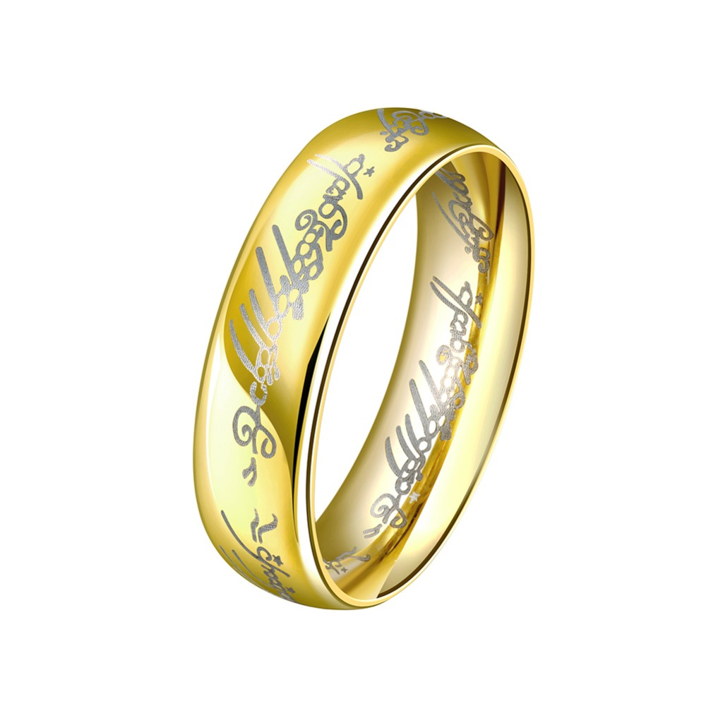 Мужские Вольфрам обручальное кольцо Оптовая Jewellery мужские золотые  Нержавеющая сталь Обручальные кольца ювелирные изделия Анель masculino . 58242134e34