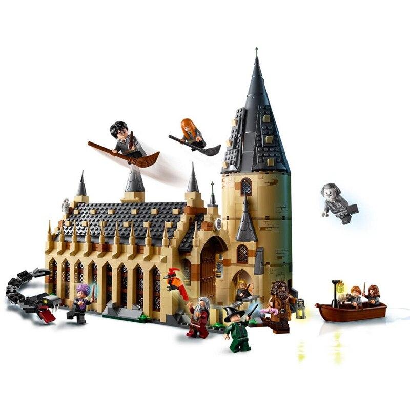 Hogwarts Harry Great Hall Building Blocks Kit Bricks Sets Classic Movie Potter Model Kids Toys Gift Marvel Compatible Legoe цена