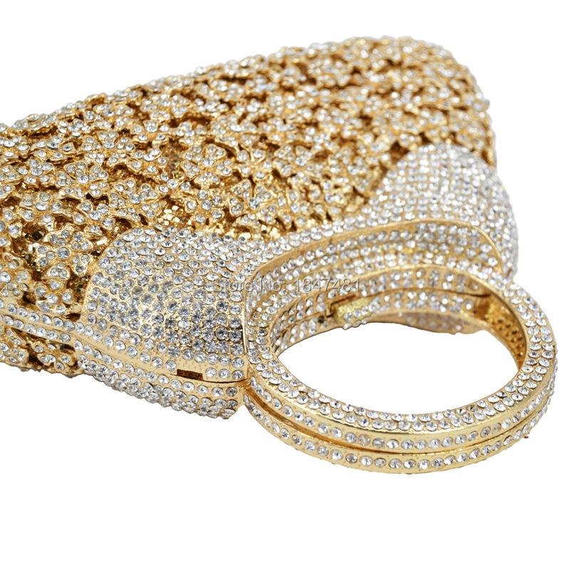 De D'embrayage Crystal Handbag Femmes Bag Partie Luxe gold Champagne Poignée Diamant Cristal Main Soirée En colorful Bourse Dames Sc217 Handbag Chaîne À Mariage Sacs Bal 551Fxr0