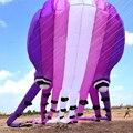 Envío de la alta calidad ripstop cometa suave kite pulpo púrpura de cristal nylon cometas para adultos 3d kite línea de la cometa de pie en el cielo