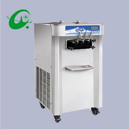 3 flavor soft ice cream machine 40L/H Commercial Electric Soft Serve ice cream maker machine  недорого