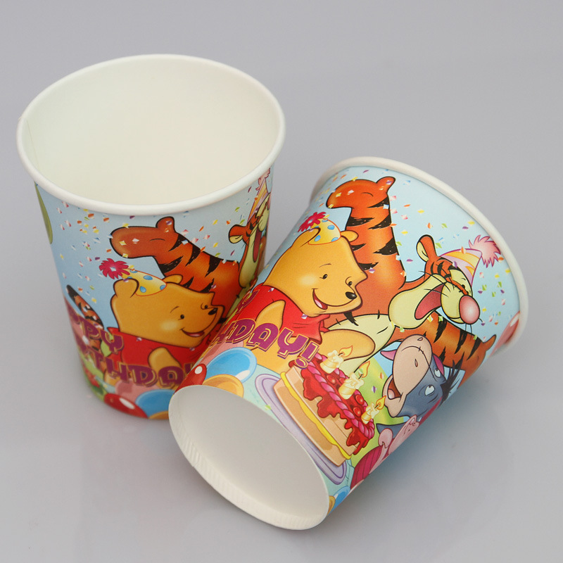 ... 100pcs Winnie the Pooh Tigger Paper Plates and Cups Disposable Cake Pans baby shower birthday party & 100pcs Winnie the Pooh Tigger Paper Plates and Cups Disposable Cake ...