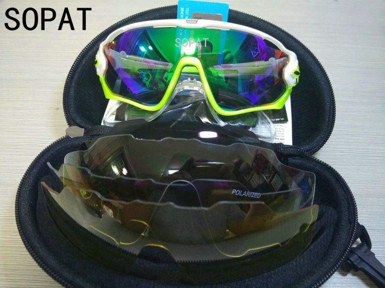 HTB1T 0jQXXXXXXnXpXXq6xXFXXXW - 2018 4 Lens Mountain Velo Goggles Polarized Jaw Breaker Sunglasses Men Women MTB sopat Eyewear JBR Sun Glasses with Myopia Frame