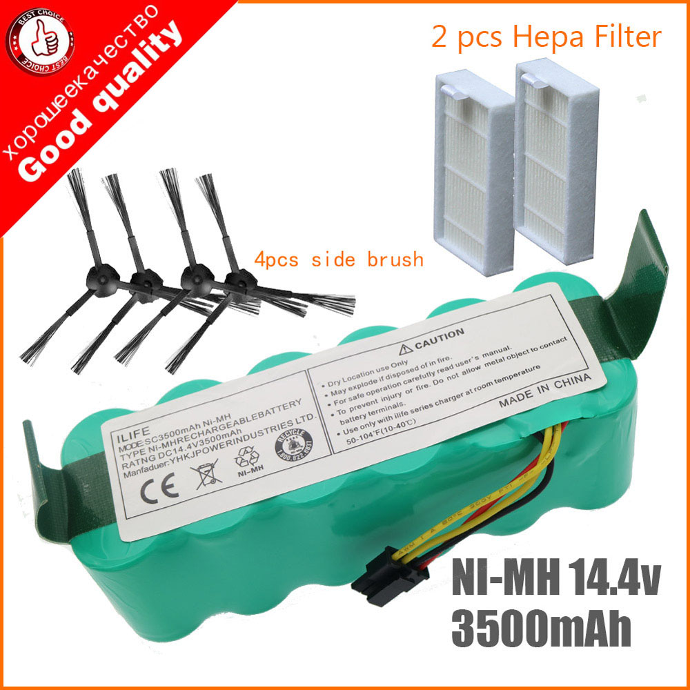 7pcs NI-MH 14.4V 3500mAh for panda X500 Battery Battery for Ecovacs Mirror CR120 Vacuum cleaner Dibea X500 X580 X600 battery(China)