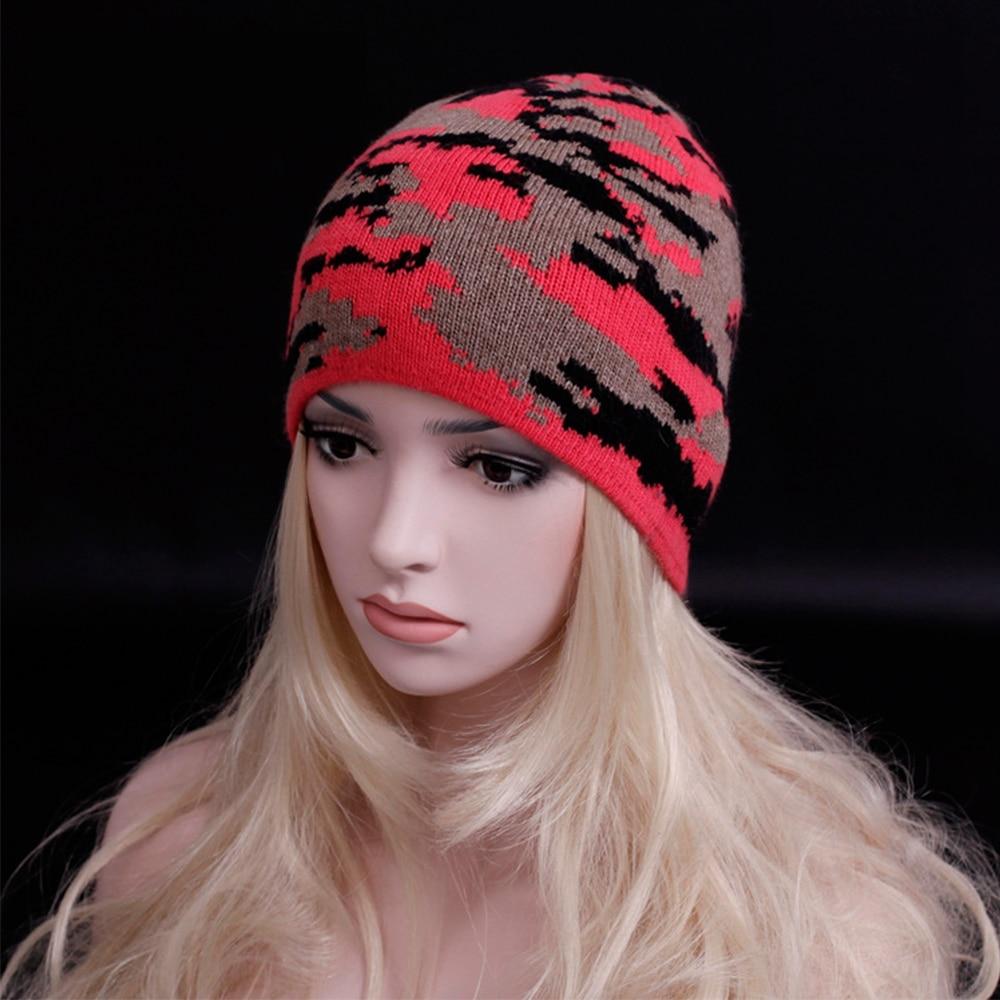 2016 Personality camouflage Unisex wool cap Double knitting warm Beanies hats Fashion Women & Men Super fashion streets caps 3pcs unisex hats cap beanies for men