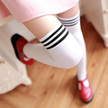 KISSyuer Muslo rayado medias Lolita japonés overknees medias Sobre la rodilla calcetines de Las Mujeres medias KS013