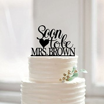 names of wedding cake designs soon to be mrs wedding cake topper bridal shower cake 17700