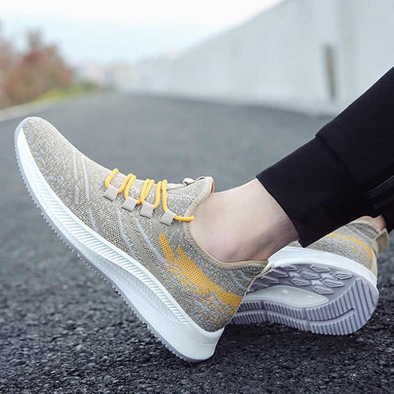Sapatos da moda skate dos homens de luz respirável calçados Esportivos não-escorregar ao ar livre sapatas dos homens ata acima as sapatilhas homens sapatos masculinos adulto