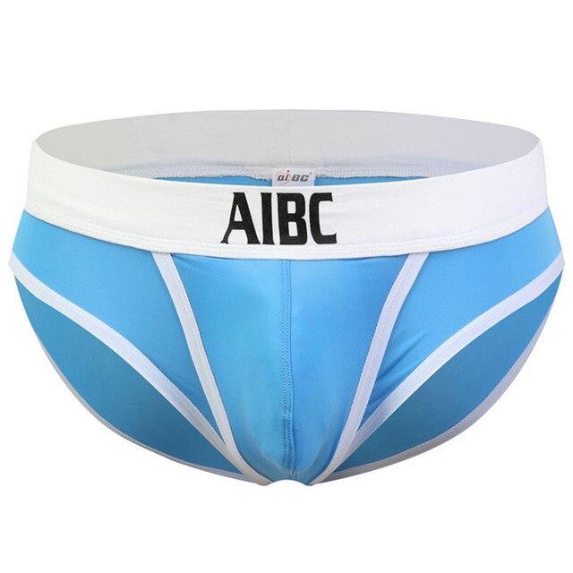 Aibc otwórz przód seksowna bielizna męska duża kieszonka na penis męskie majtki niskiej talii jedwabne majteczki wypukłe kalesony Push Up oddychające