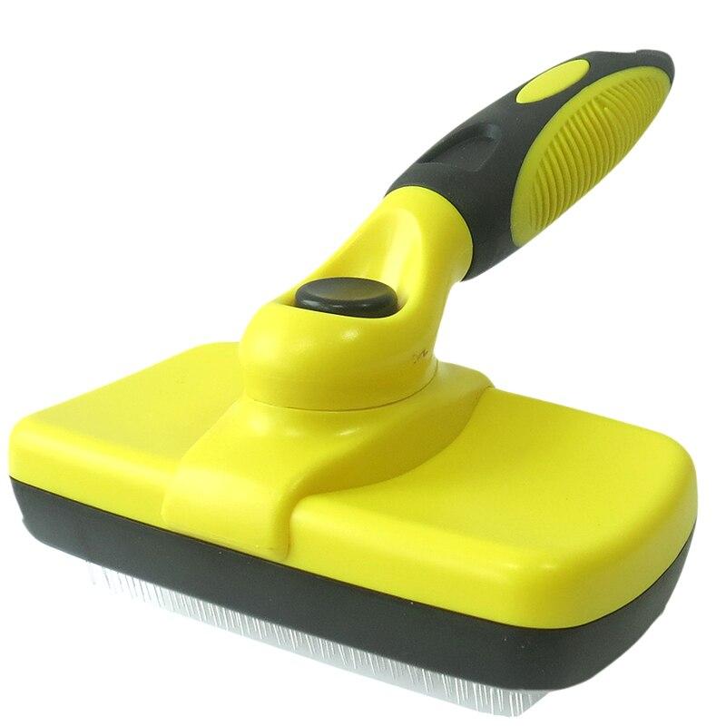 Профессиональная щетка для удаления волос для домашних животных расческа для собак щетка для ухода за кошками автоматическая чистка из нержавеющей стали игла Щетка для собак|Расчески для собак|   | АлиЭкспресс