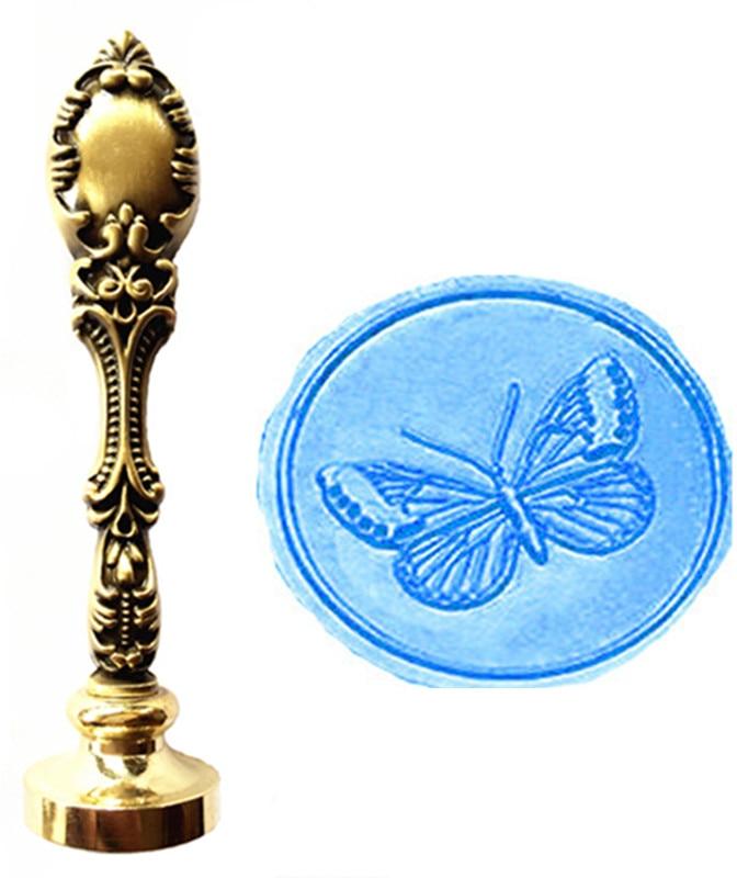 MDLG Vintage Butterfly Vlastní obrázek Logo Luxusní vosková - Umění, řemesla a šití