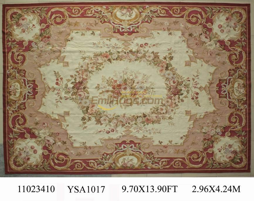 Grand tapis fait main pour salon tapis carré tapis Aubusson tapis laine tapis à tricoter