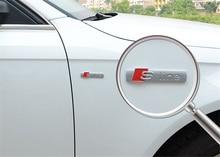3D Metal Car S-line Sticker