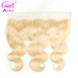 Brazilian Body Wave Frontal Closure 613 Frontal Closure Blonde Transparent Frontal 13x4 Remy Ear To Ear Lace Frontal Closure(China)