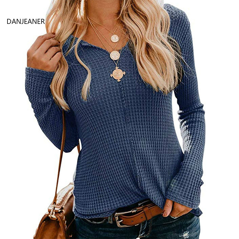 DANJEANER 2019 Autumn Winter Thin Solid Long Sleeve Pullovers Women Fashion Casual Basic Jumpers Plus Size Knitted Sweaters Tops