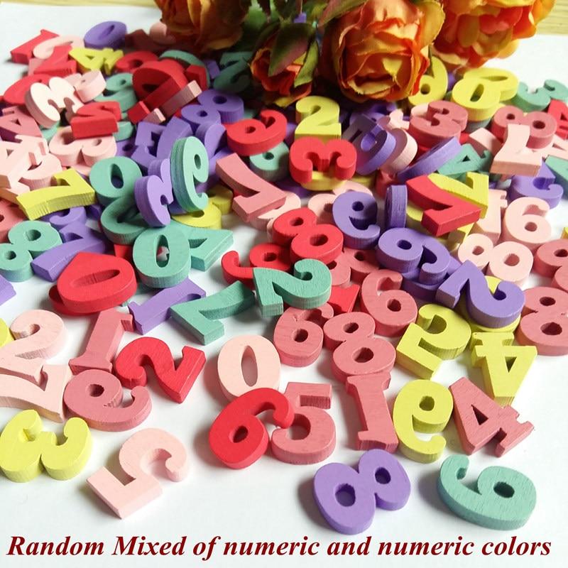 Randomly Mixed 60pcs Letter alphabet nonporous wood Scrapbooking Decorativos for Carft decoration Diy Decoration Botones