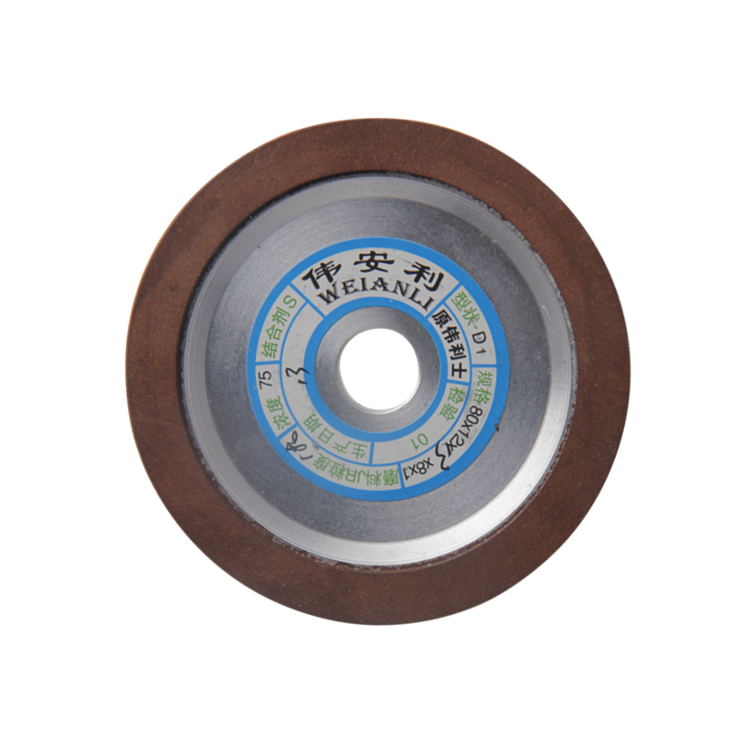 80*12*13*8*1 Diamond Grinding Wheels 150/180/240/320 Grits Grinding Dish Wheels For Carbide Material Power Tool 1pc